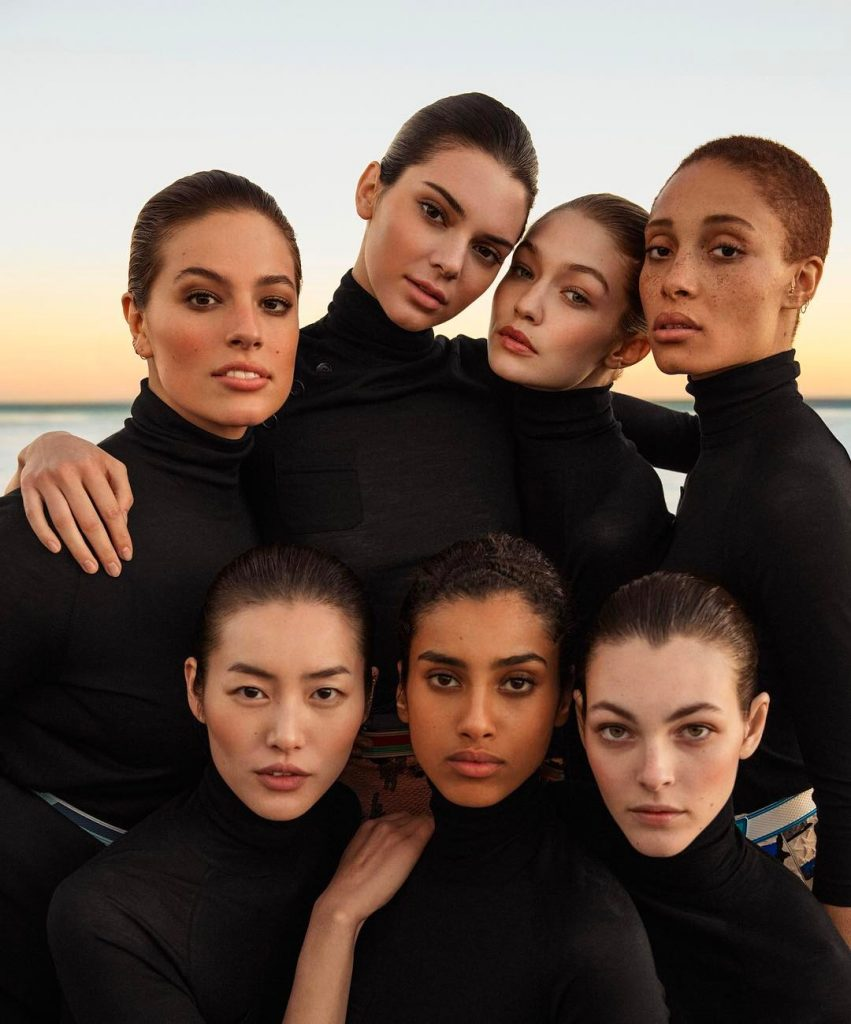 Ashley Graham, kendall jenner, Gigi hadid, Adwoa Aboah, Liu Wen, Imaan Hammam et Vittoria ceretti pour Vogue USA Mars 2017