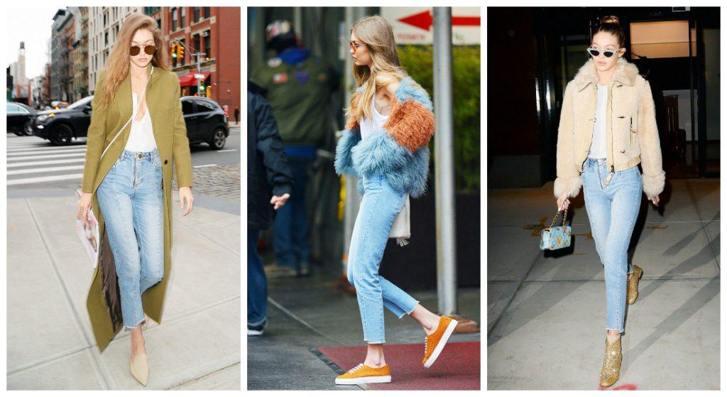 Gigi Hadid est l'un des tops du moment. Mais quand elle ne défile pas pour Chanel, Tommy Hilfiger ou Balmain, Gigi Hadid cultive un look casual et sporty. Basiques favoris ? Un t-shirt blanc simplissime, des jeans slims, des baskets ou des cuissardes, un teddy ou un blouson de biker très rock.