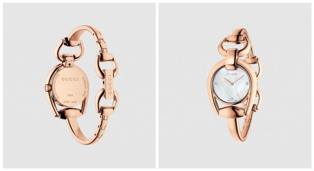Montre Gucci tendance 2017 - Modele Horsebit : Les montres Gucci sont des accessoires de luxe de la marque de haute couture italienne. Du mors à cheval aux sangles d'équitation, les montres Gucci jouent avec les codes pour créer des objets intemporels et tendance.