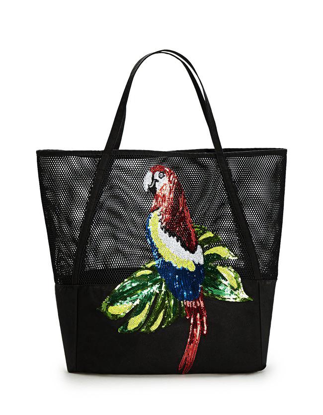Stradivarius collection tropical été 2017 - Shopper résille
