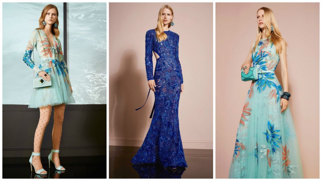 3 robes de soirée elie saab de la collection printemps-été 2018
