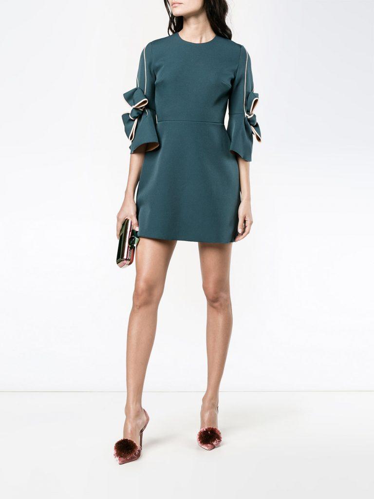 Robe de soirée tendance été 2017 - Robe Harlin verte Roksanda