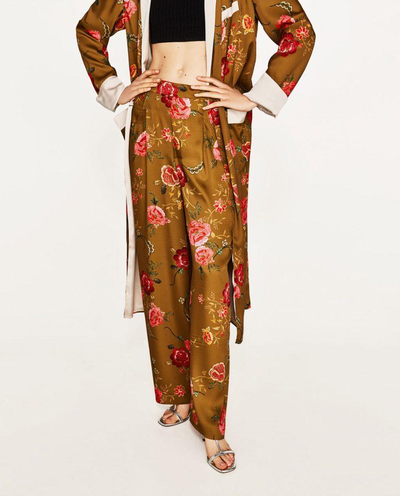 collection Zara spéciale Ramadan 2017 - PANTALON IMPRIMÉ FLEURS