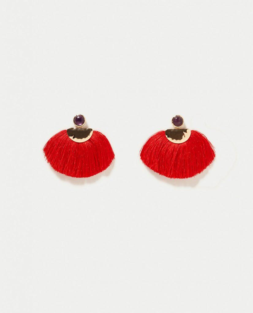 Boucles d'oreilles Rouges
