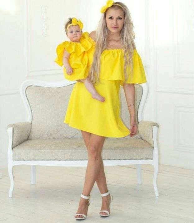 fashion 2017 vêtement mère fille identique telle mère telle fille 2017 Look 1
