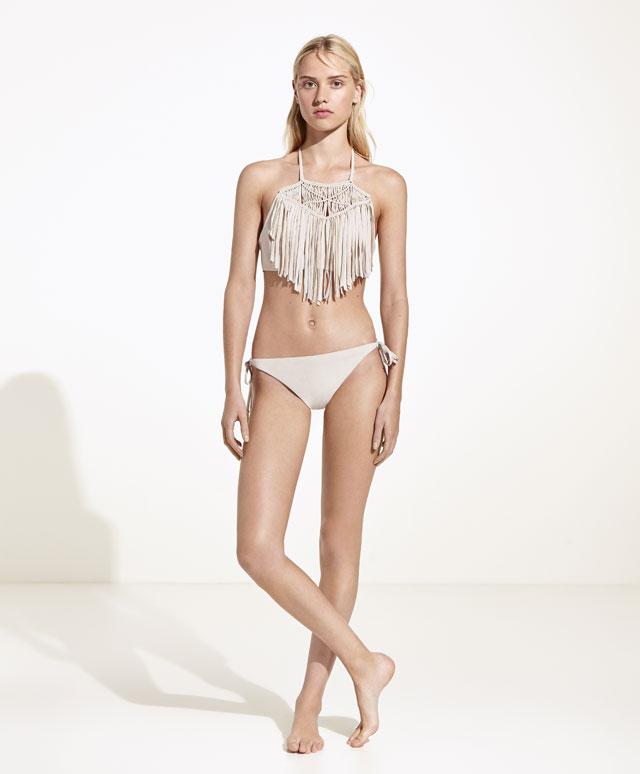 bikini à franges oysho tendance été 2017