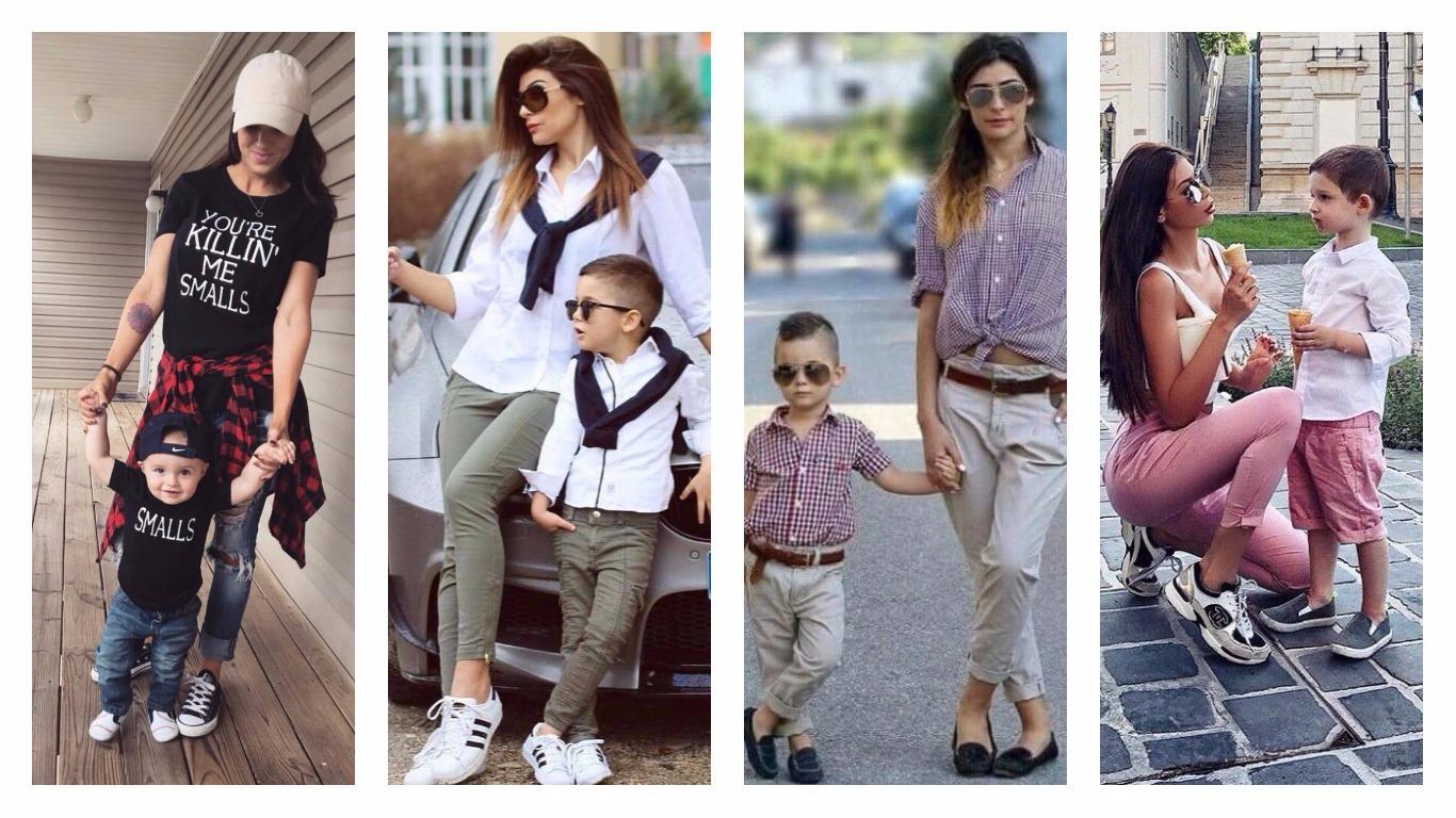 Tendance mode : 36 Idées des tenues assorties pour mère et fils