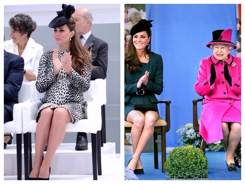 """Il n' y a que 2 façons pour une dame de s'asseoir. La première voie s'appelle la """"duchesse inclinée"""", et la seconde est la """"Cambridge Cross""""."""