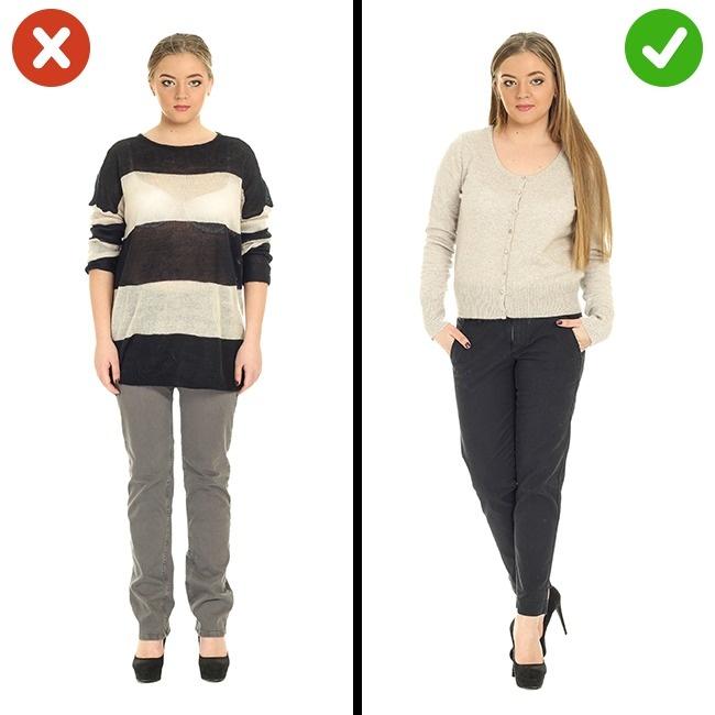 Vêtements à rayures horizontales