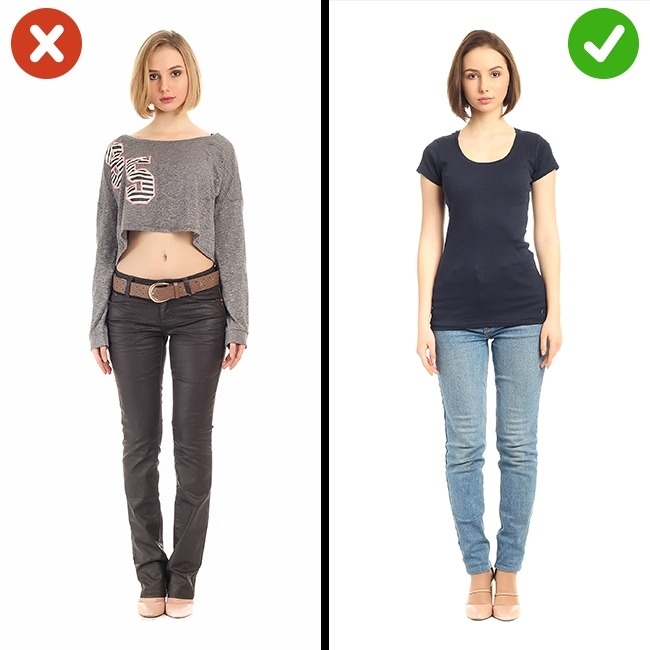 Vêtements découpés
