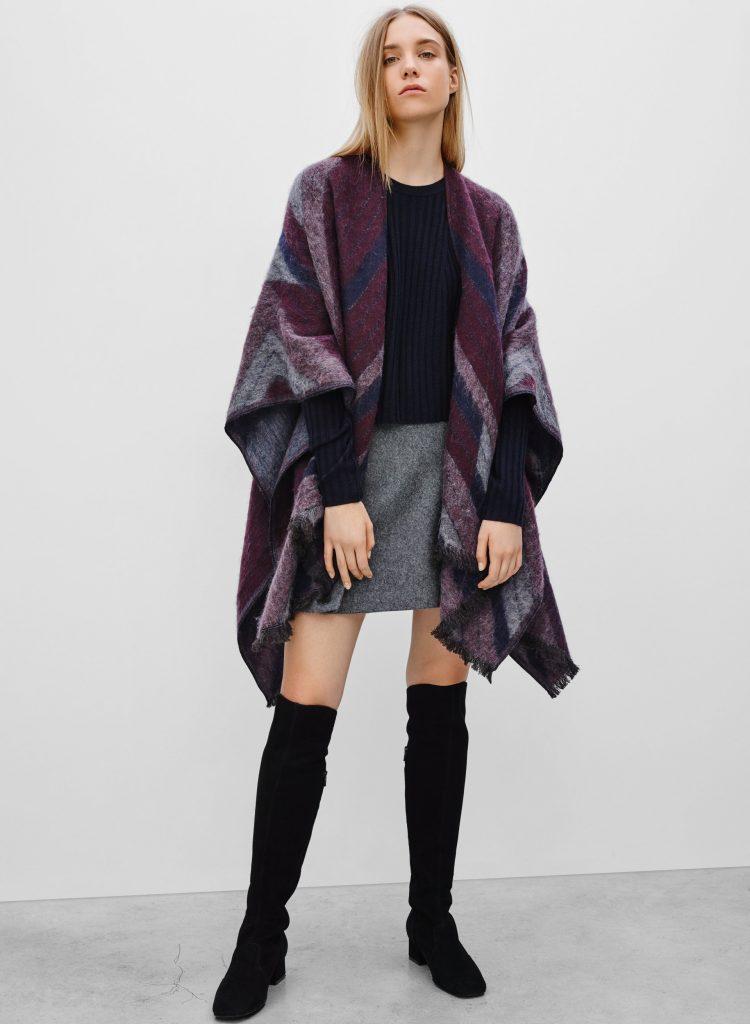 types de manteaux pour accueillir l'automne : Le châle