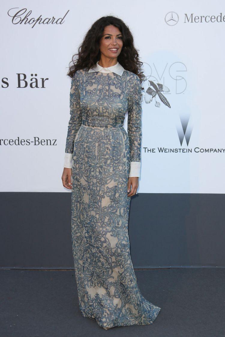 Jnifen porte Valentino au 20ème Cinéma annuel contre le SIDA de l'amfAR en 2013