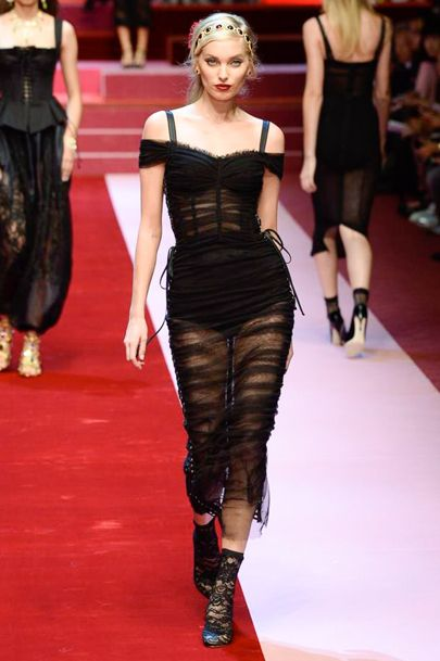 Modele robe courte tendance 2018 - Dolce & Gabbana