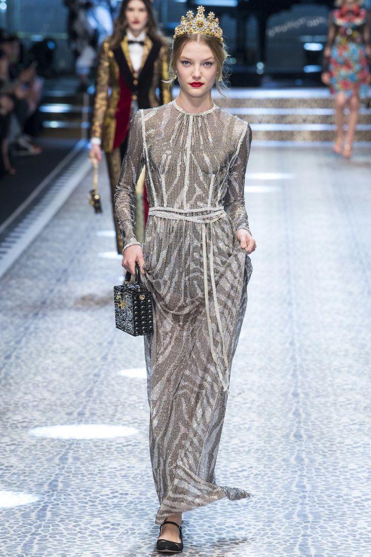 modele robe longue tendance 2018 - Dolce and Gabbana