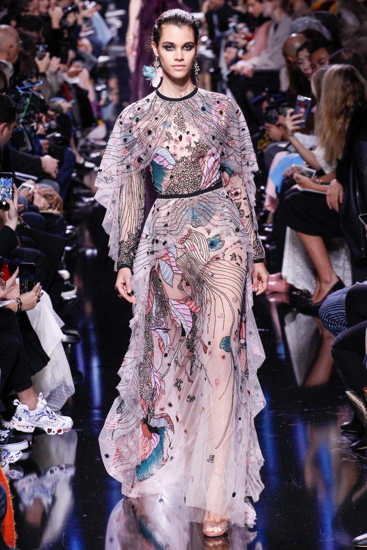 modele robe longue tendance 2018 - Elie Saab Fall
