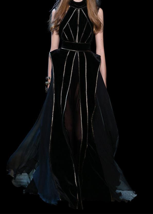 Une autre robe noire somptueuse d'Elie Saab