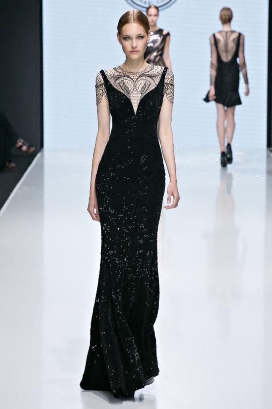 Robe noire chic tendance 2018 - modele Michael Cinco