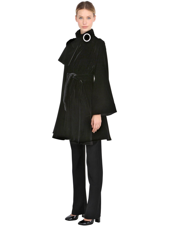 Giorgio armani manteau en velours de soie femme