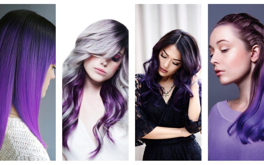 Tendance Coloration : Tout savoir sur les cheveux violets prune la coloration phare de 2018