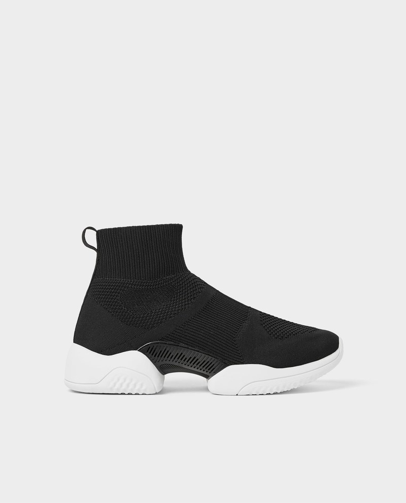 baskets zara collection 2018 : Black High Top Sneakersac