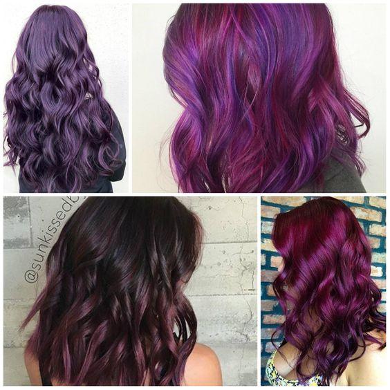 tendance coloration tout savoir sur les cheveux violets prune la coloration phare de 2018. Black Bedroom Furniture Sets. Home Design Ideas