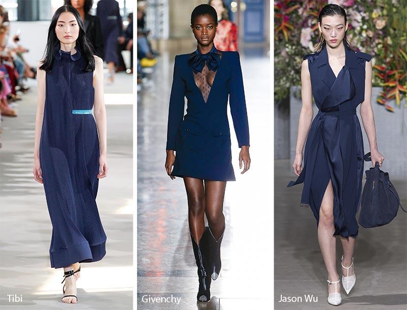 Bleu tendance mode printemps-été 2018