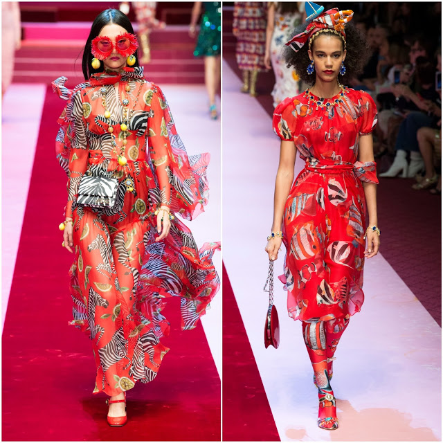 Dolce & Gabbana - rouge tendance mode printemps-été 2018