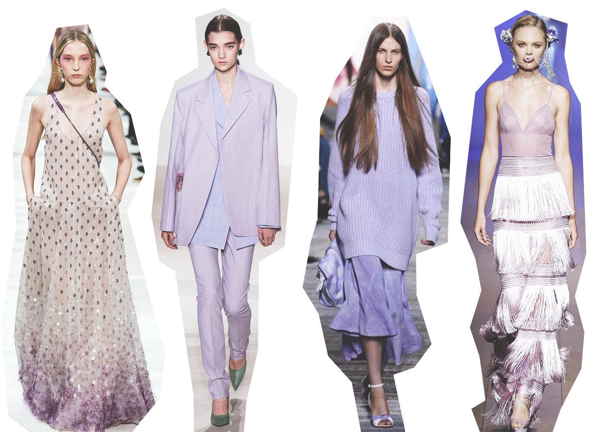 Lavender tendance mode printemps-été 2018