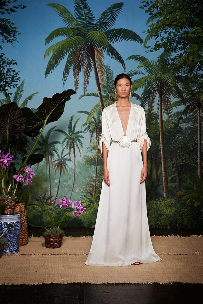 Rebecca de Ravenel - Robe blanche tendance mode printemps-été 2018