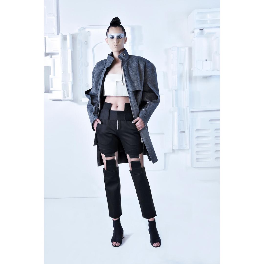 ▪️DESIGNER: @judasmordache ▪️THEME: Cyborg Couture ▪️For the 4th edition of @byfdcofficial by @lipsmanagement ▪️ ABC Verdun Gardens