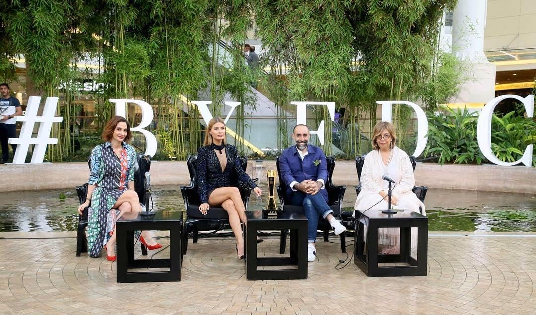 Les juges du BYFDC: Rabih Kayrouz, Victoria Bonya, Desiree Sadek, Tania Azzedine