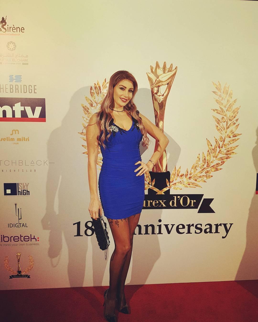 La simplicité fait la beauté! La miss Lebanon Christina Sawaya était bien entendu présente, et a enchainé les looks durant la Murex.