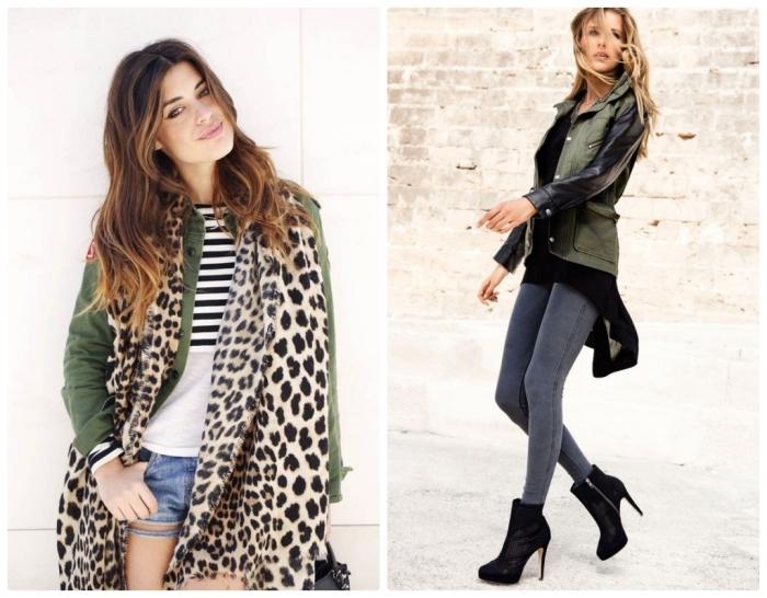 64ac22b78423 les couleurs qui vont ensemble pour s habiller, tenue femme en jeans gris  et tunique