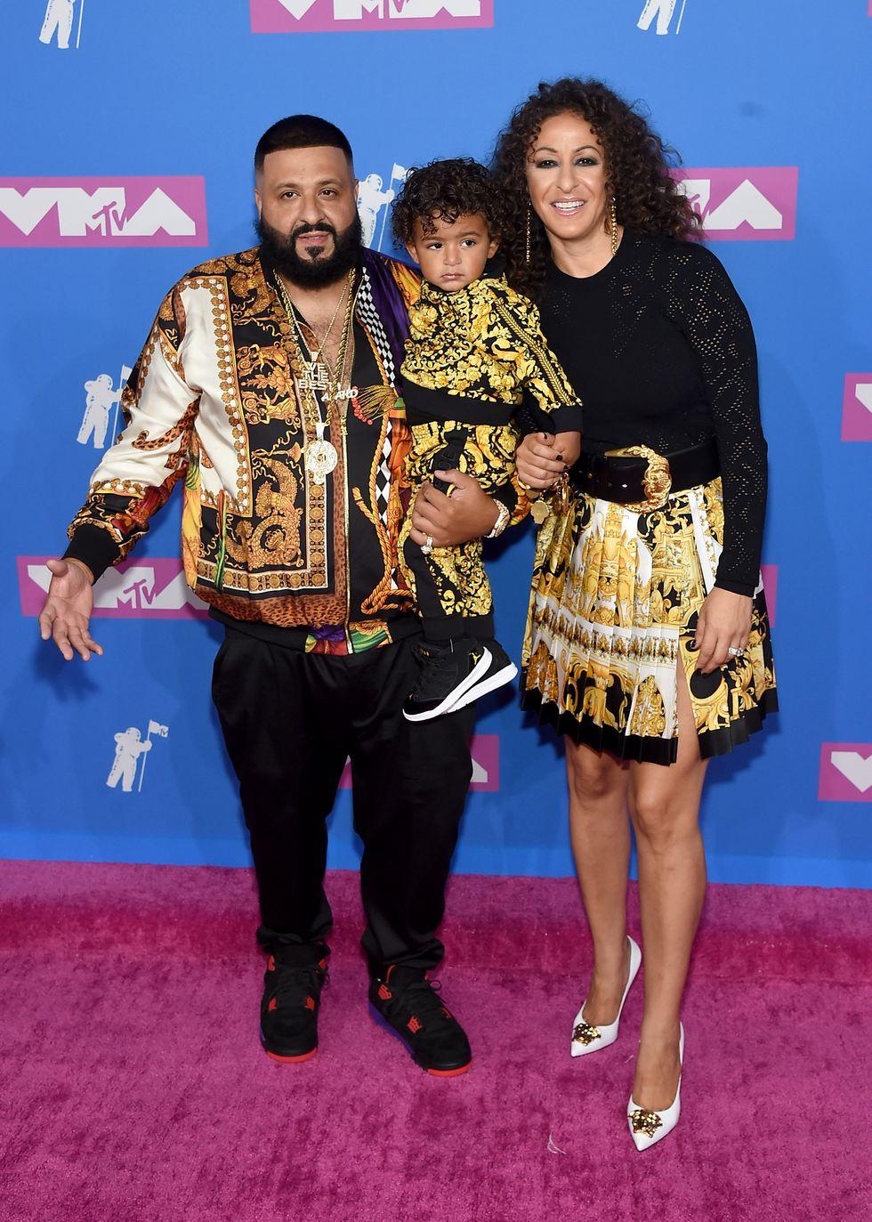 MTV Video Music Awards - Look de Dj Khaled, Asahd Khaled, et Nicole Tuck