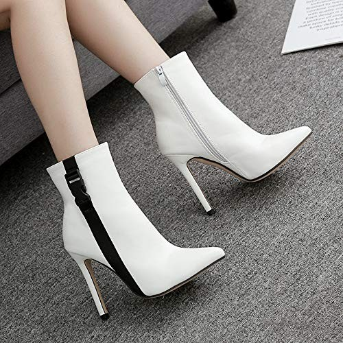 Boots blanches - bottines femme cuir Tendance 2019