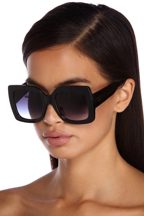 lunette de soleil carré noir