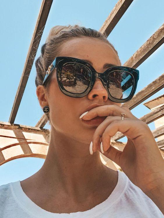 lunette de soleil verre carre