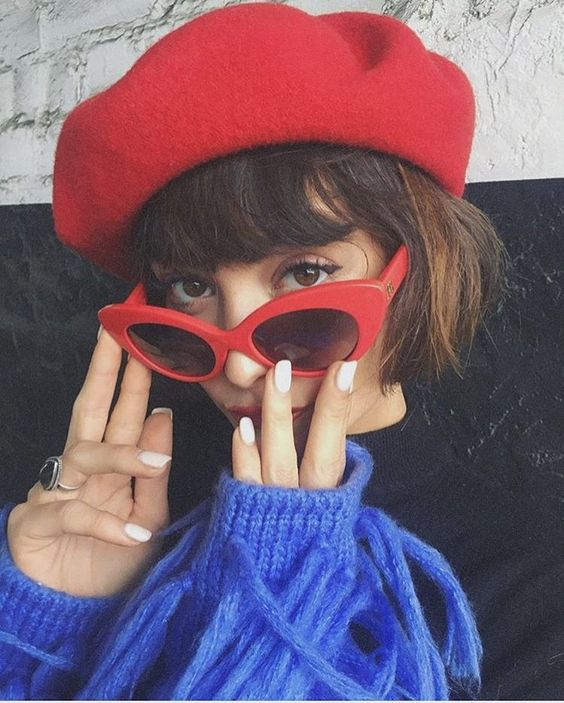 lunette de soleil yeux de chat rouge Tendance 2018