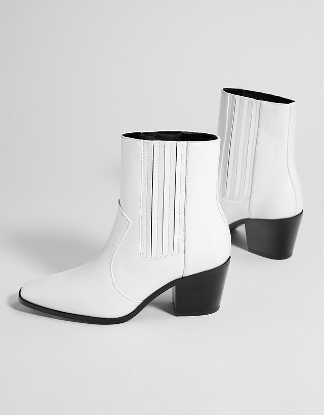 Bottines cowboy bandes élastiques - Nouvelle Collection Bershka pour femmes