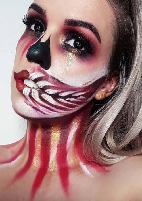 Makeup 45 Idees De Maquillage Halloween Pour Femmes En Images