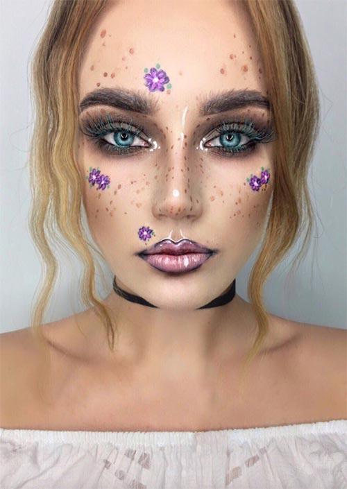 Fairy Halloween Makeup : Peut-être que vous voulez un look de maquillage d'Halloween qui est un peu plus discret et inspiré des fées, et si oui, c'est le choix idéal pour vous !