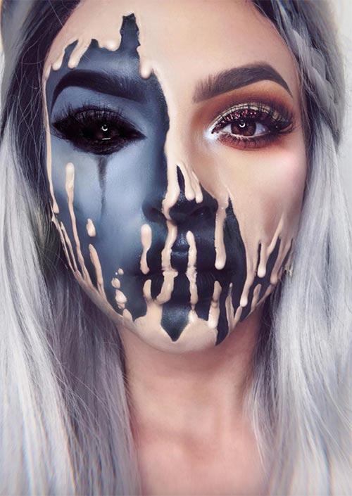 Makeup : 45 idées de maquillage halloween pour femmes en images