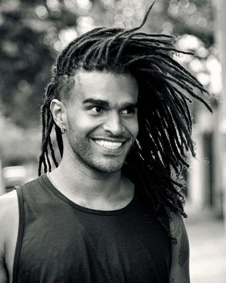 cheveux afro homme dreadlocks