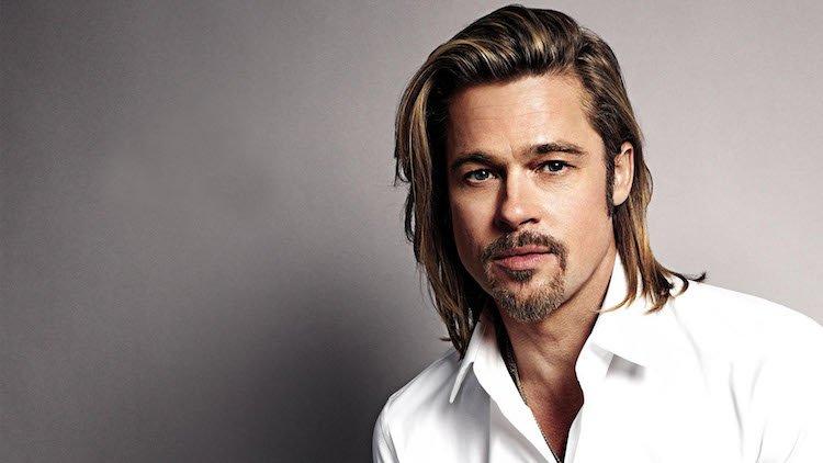 cheveux long homme coupe carre brad pitt
