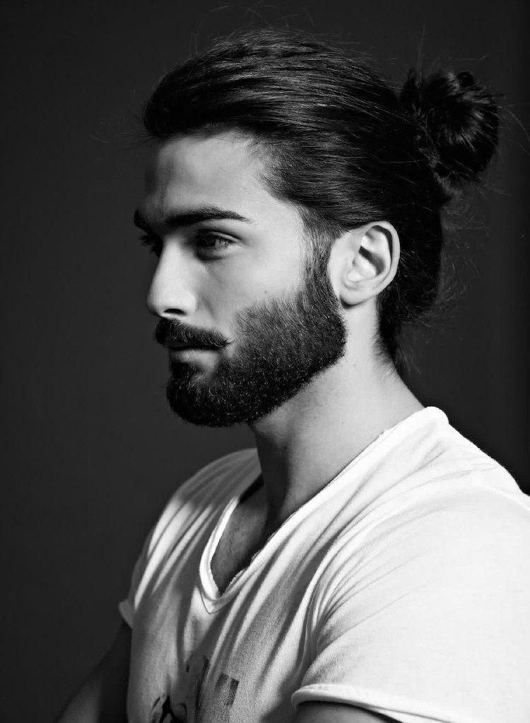 cheveux long homme man bun