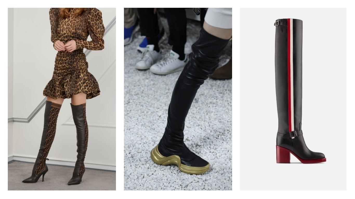 Chaussures cuissardes tendances 2019 our femmes : Fendi, Luis Vuitton et Christian Dior