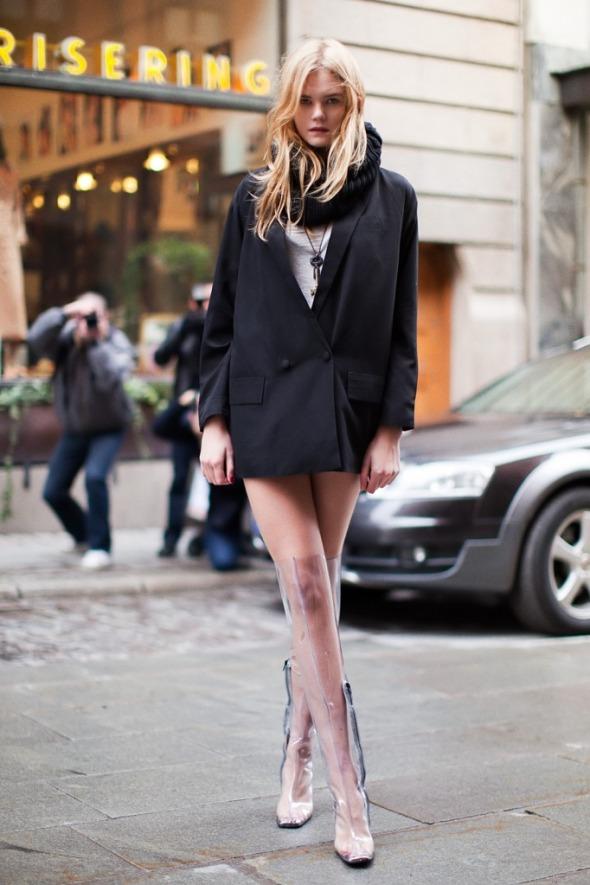 Si vous êtes une fille audacieuse, portez des cuissardes transparentes