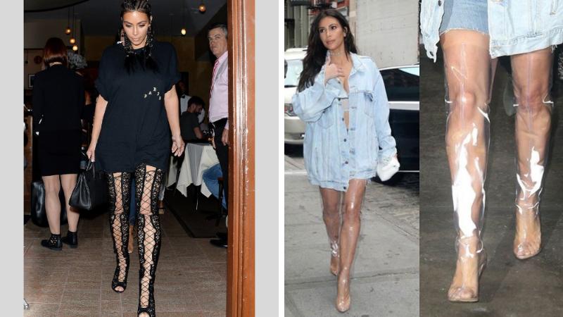 les bottes cuissardes de Kim Kardashian