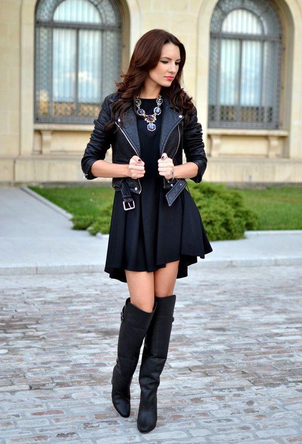 Une tenue noire avec des cuissardes vous fera paraître plus mince.
