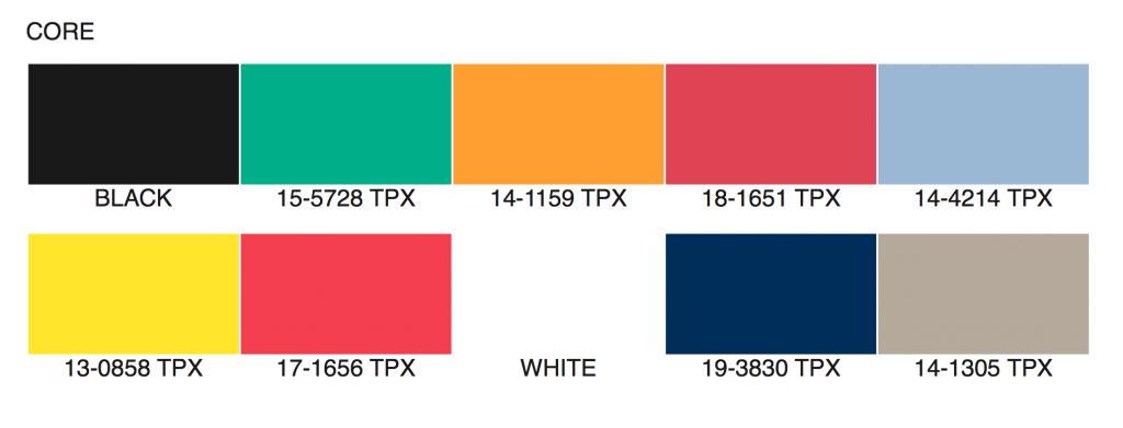 Palette de couleurs Automne/Hiver 2020/2021